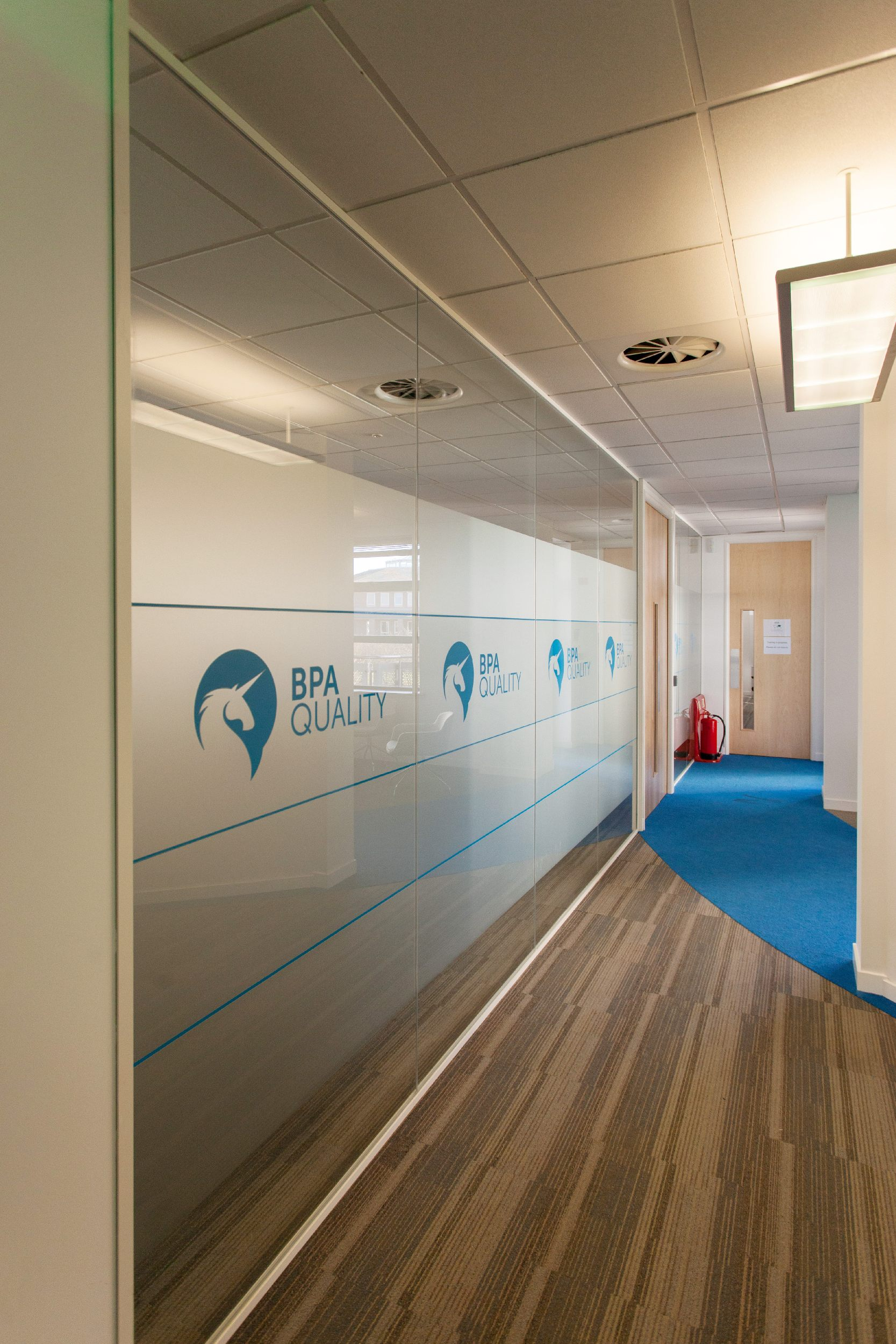 office space exeter. Silicone Glazed Partitions With Bespoke Window Manifestations Office Space Exeter