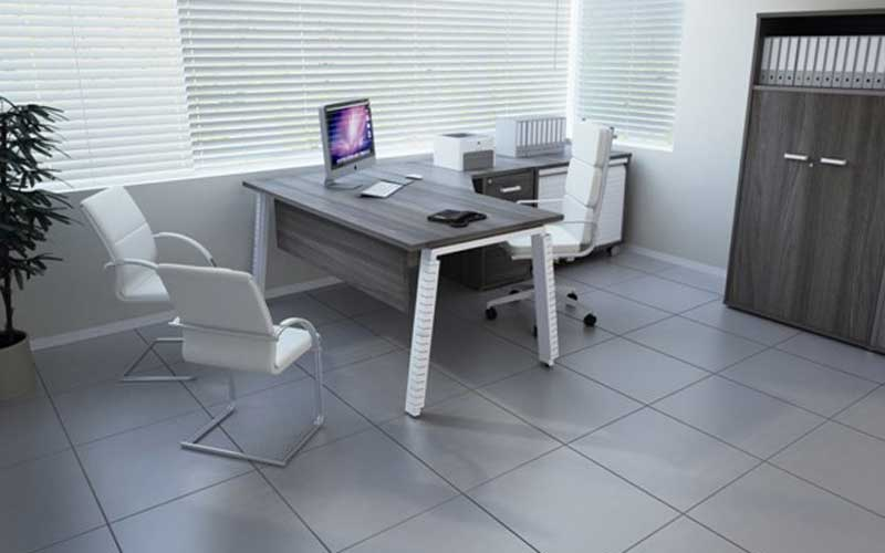 grey office space
