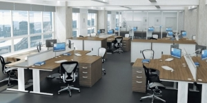 Generic open plan office furniture